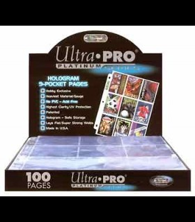 Ultra Pro Platinum Series 9-Pocket Pages (Box of 100 pieces)